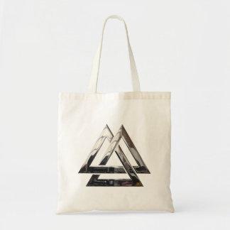 Valknut - Silver Budget Tote Bag