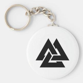 Valknut Symbol triquetra Basic Round Button Keychain