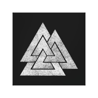 Valknut Viking Design Canvas Print
