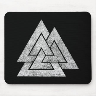Valknut Viking Design Mouse Pad