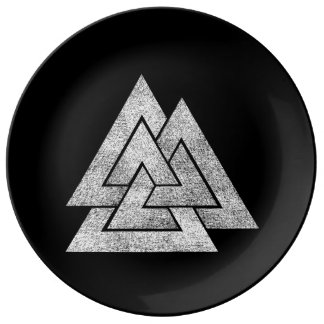 Valknut Viking Design Plate