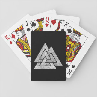 Valknut Viking Design Playing Cards