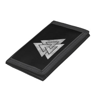 Valknut Viking Design Trifold Wallet
