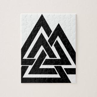 Valknut Viking Norse Nordic Protection Symbol Odin Jigsaw Puzzle