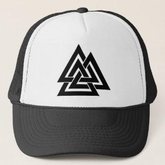 Valknut Viking Norse Nordic Protection Symbol Odin Trucker Hat
