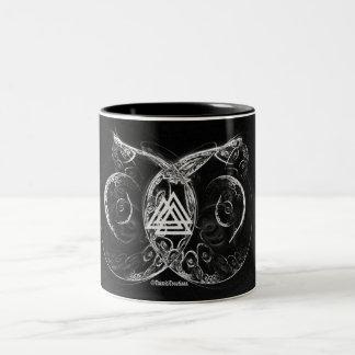 VALKNUT . Viking's raising Two-Tone Coffee Mug