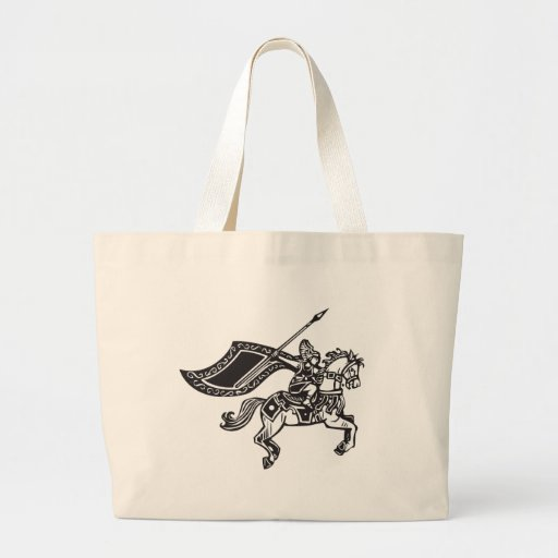 Valkyrie on Horse Canvas Bags