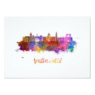 Valladolid skyline in watercolor card