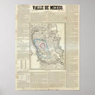 Valle de Mexico, Mexico Poster