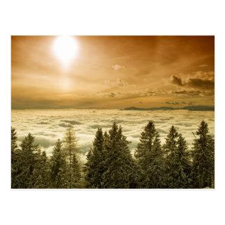 Vallée brumeuse cartes postales