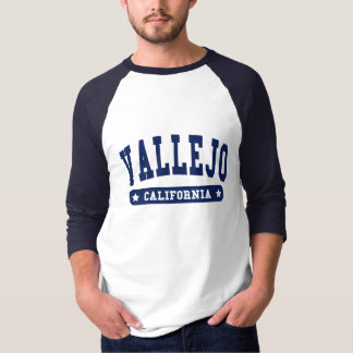 Vallejo California College Style tee shirts