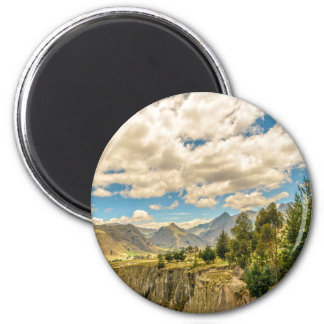Valley and Andes Range Mountains Latacunga Ecuador 2 Inch Round Magnet