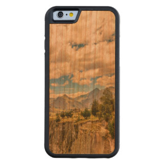 Valley and Andes Range Mountains Latacunga Ecuador Carved Cherry iPhone 6 Bumper Case