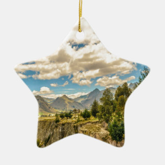 Valley and Andes Range Mountains Latacunga Ecuador Ceramic Ornament