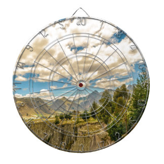 Valley and Andes Range Mountains Latacunga Ecuador Dartboard