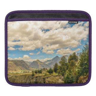 Valley and Andes Range Mountains Latacunga Ecuador iPad Sleeve