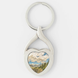 Valley and Andes Range Mountains Latacunga Ecuador Keychain