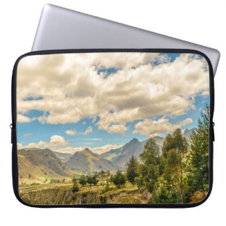 Valley and Andes Range Mountains Latacunga Ecuador Laptop Sleeve