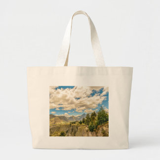 Valley and Andes Range Mountains Latacunga Ecuador Large Tote Bag