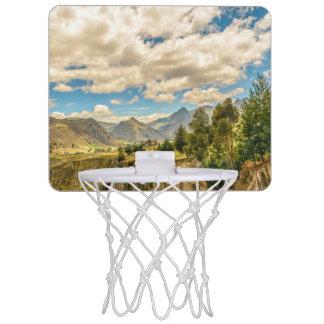 Valley and Andes Range Mountains Latacunga Ecuador Mini Basketball Hoop