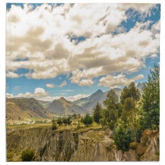 Valley and Andes Range Mountains Latacunga Ecuador Napkin