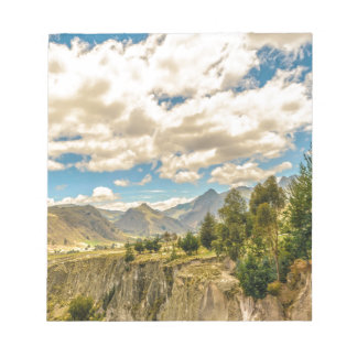 Valley and Andes Range Mountains Latacunga Ecuador Notepad