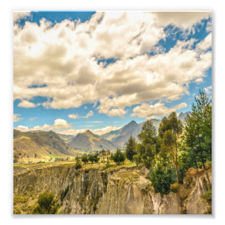 Valley and Andes Range Mountains Latacunga Ecuador Photo Print