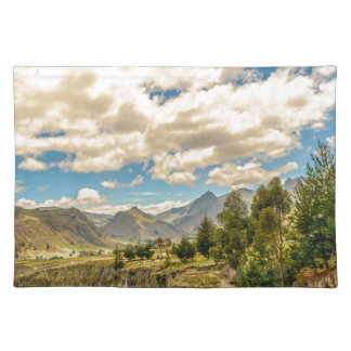 Valley and Andes Range Mountains Latacunga Ecuador Placemat