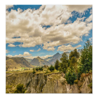 Valley and Andes Range Mountains Latacunga Ecuador Poster