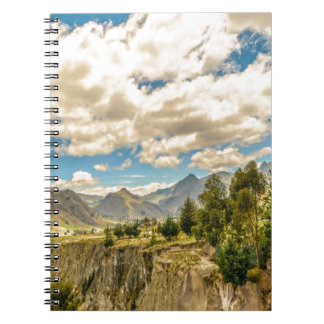 Valley and Andes Range Mountains Latacunga Ecuador Spiral Notebook