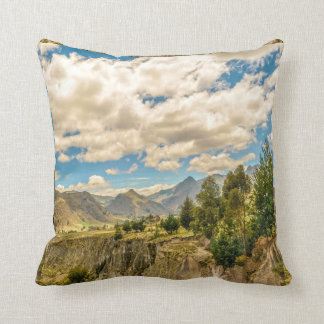 Valley and Andes Range Mountains Latacunga Ecuador Throw Pillow
