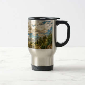 Valley and Andes Range Mountains Latacunga Ecuador Travel Mug