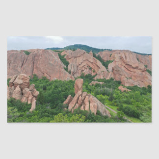 Valley and Rock Formations at Roxborough Sticker