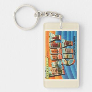 Valley City North Dakota ND Old Travel Souvenir Double-Sided Rectangular Acrylic Keychain