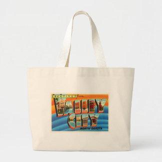 Valley City North Dakota ND Old Travel Souvenir Large Tote Bag