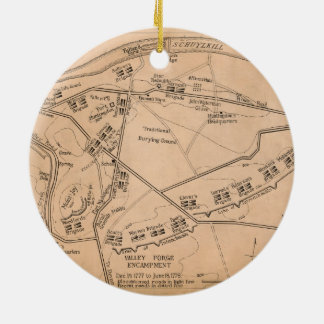 Valley Forge Encampment Map (Dec. 1777-June 1778) Ceramic Ornament