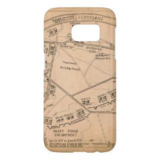Valley Forge Encampment Map (Dec. 1777-June 1778) Samsung Galaxy S7 Case