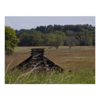 Valley Forge, PA Log Cabin Poster