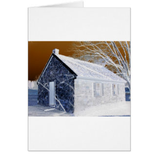 Valley Forge, Pa Schoolhouse (Modified Colors) Card
