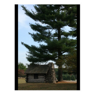 Valley Forge Soldier Cabin Postcard