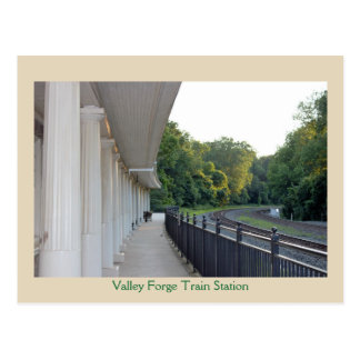 Valley Forge Train Station Postcard
