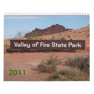 Valley of Fire 2011 Calendar