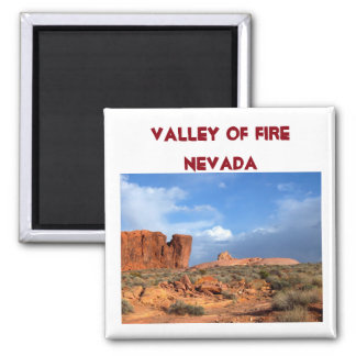 Valley of Fire Nevada USA Square Magnet