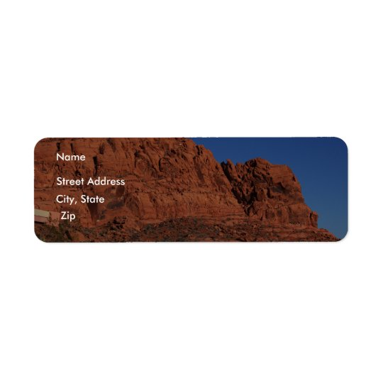 Valley of Fire Return Address Label