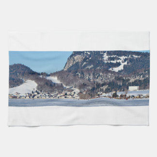 valley of joux and lake kitchen towel