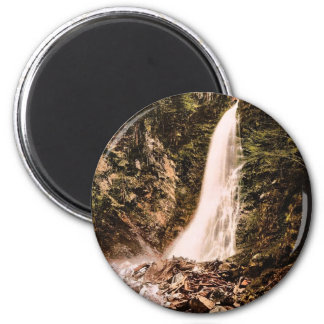 Valley of Lys and Cascade de Cocur, Luchon, Pyrene 2 Inch Round Magnet