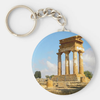 Valley of Temples Sicily Keychain
