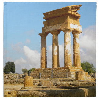 Valley of Temples Sicily Napkin