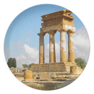 Valley of Temples Sicily Plate