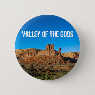 Valley of the Gods Blue Skies Butte 2 Inch Round Button